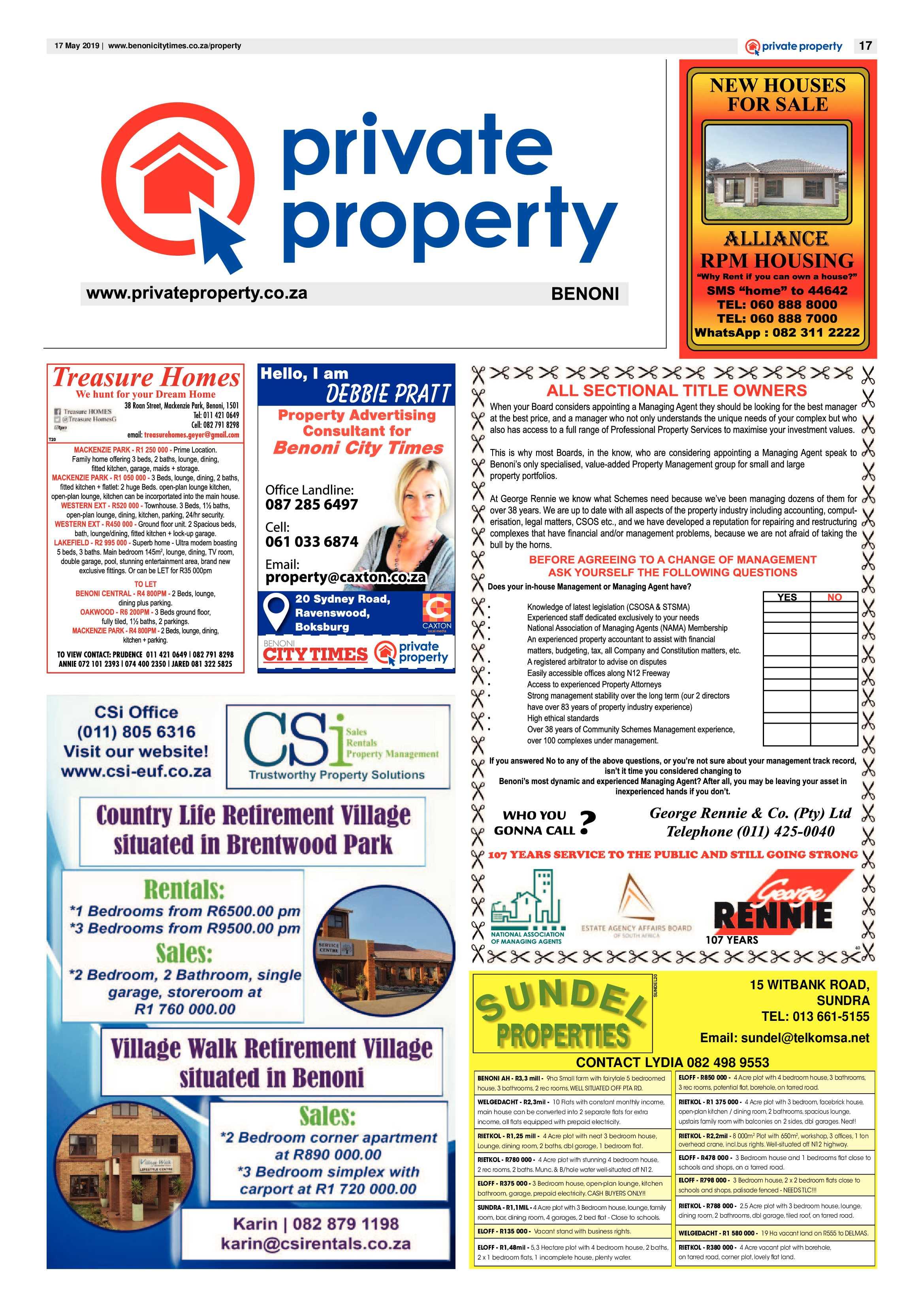 Benoni City Times 16 May 2019 | Benoni City Times