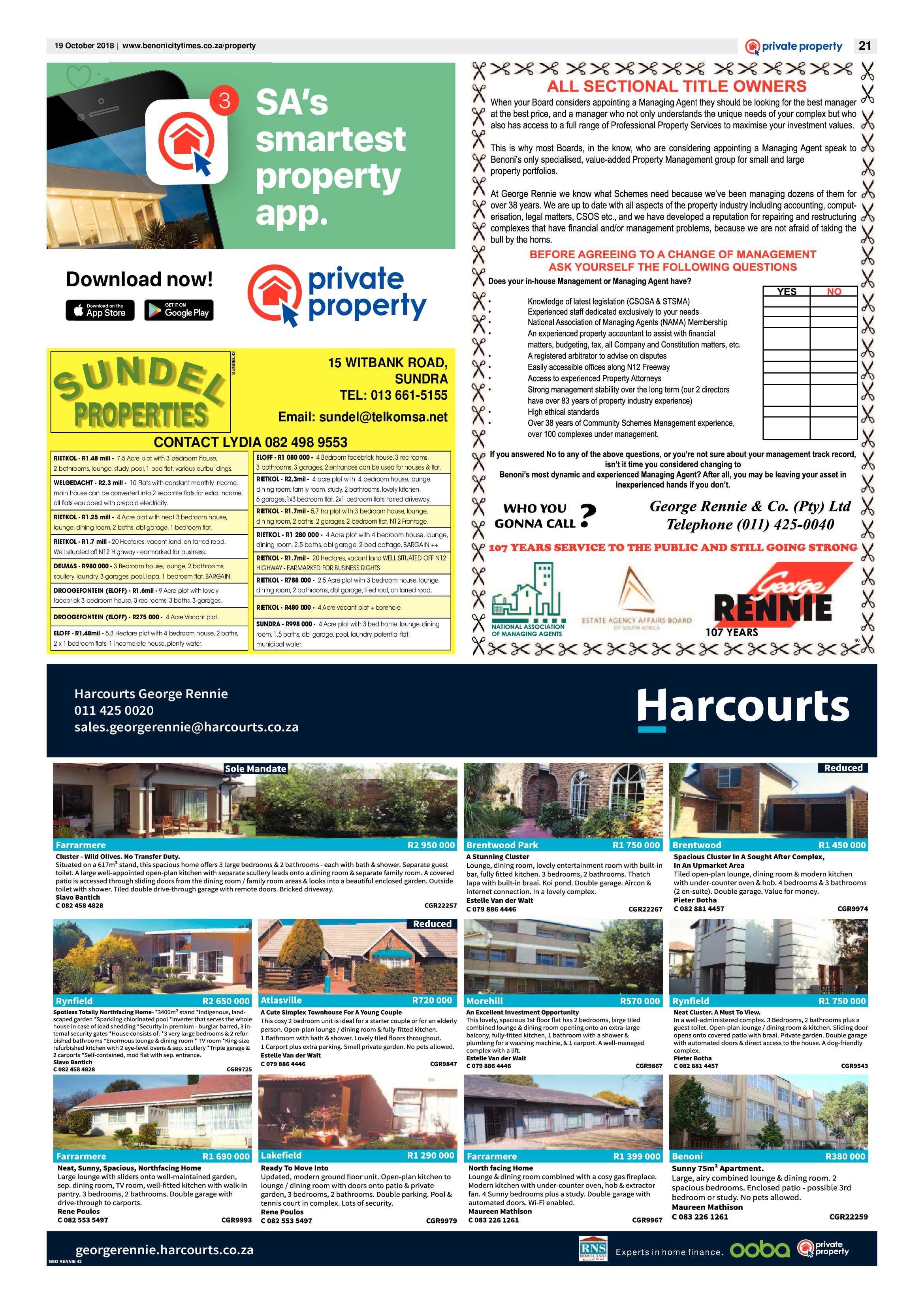Benoni City Times 18 October 2018 | Benoni City Times